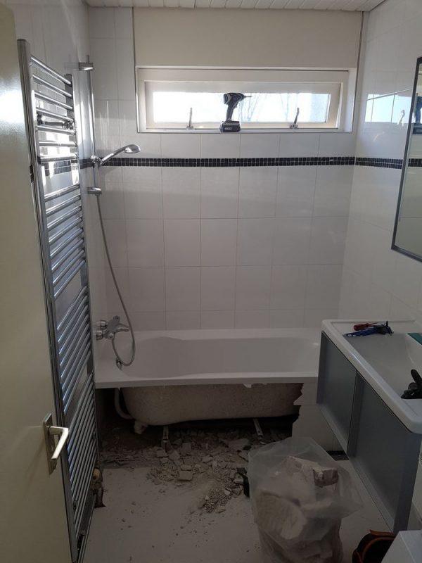 Badkamer renovatie inloopdouche.